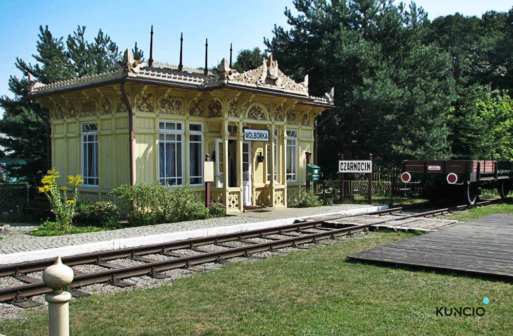 skansen budynek kolejowy